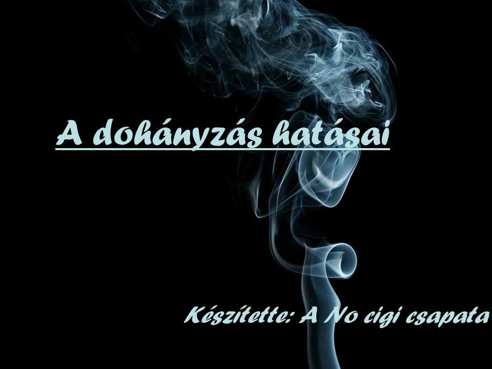 A dohányzás hatásai Készítette: A No cigi csapata