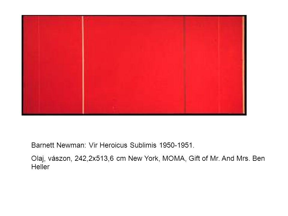 Barnett Newman: Ki fél a pirostól, a sárgától és a kéktől I.