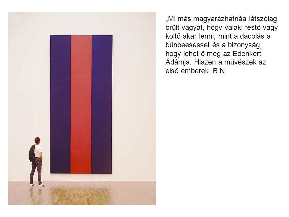 """Mark Rothko (Márkus Rothkowicz) 1903 Dvinszk 1970 New York 1959 Kassel """"Szerintem az én képeim drámák, ahol a formák a szereplők."""