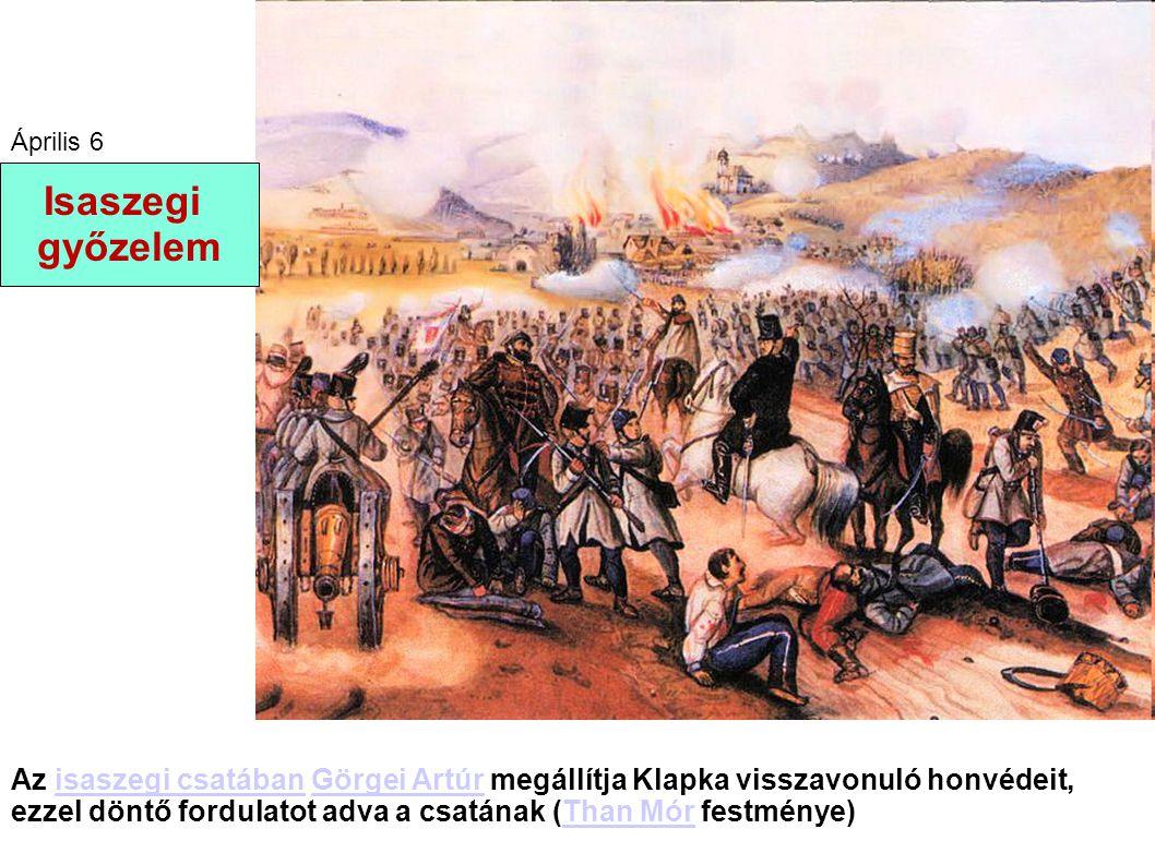 Az isaszegi csatában Görgei Artúr megállítja Klapka visszavonuló honvédeit, ezzel döntő fordulatot adva a csatának (Than Mór festménye)isaszegi csatáb