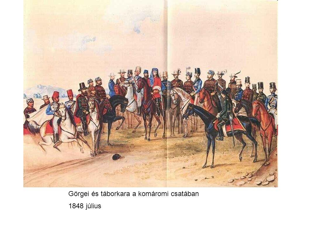 Görgei és táborkara a komáromi csatában 1848 július