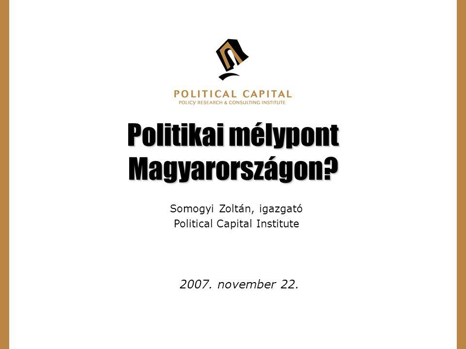 1 Politikai mélypont Magyarországon. 2007. november 22.