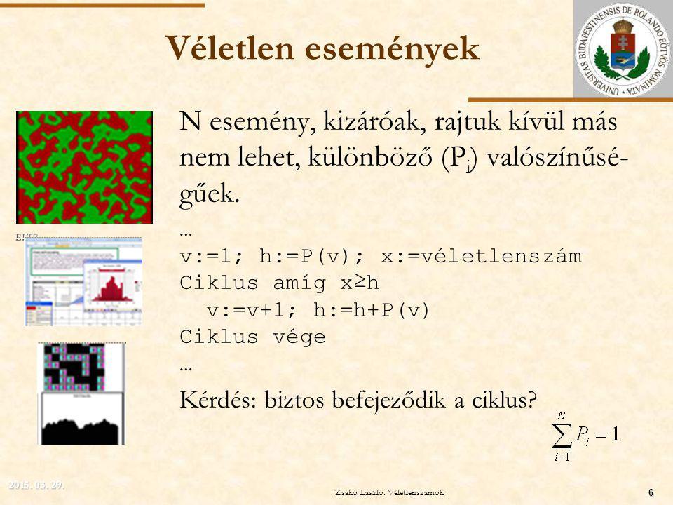 Zsakó László: Programozási alapismeretek M Vége Zsakó László: Szimuláció II. 17