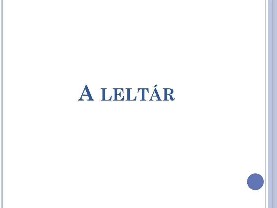 A LELTÁR