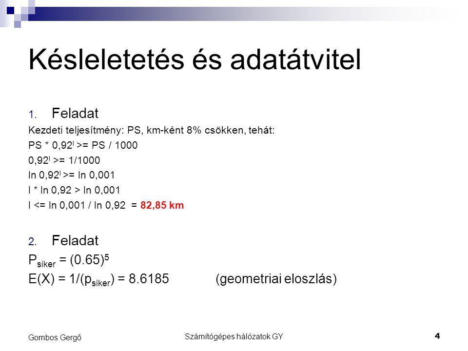 Késleletetés és adatátvitel 1.