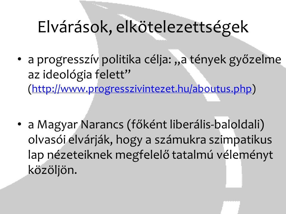 """Elvárások, elkötelezettségek a progresszív politika célja: """"a tények győzelme az ideológia felett"""" (http://www.progresszivintezet.hu/aboutus.php)http:"""