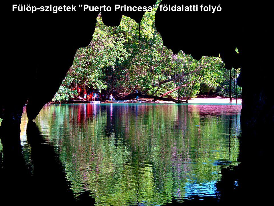 Fülöp-szigetek Puerto Princesa földalatti folyó