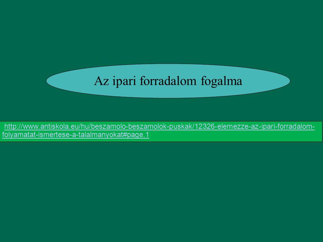 Az ipari forradalom fogalma http://www.antiskola.eu/hu/beszamolo-beszamolok-puskak/12326-elemezze-az-ipari-forradalom- folyamatat-ismertese-a-talalman