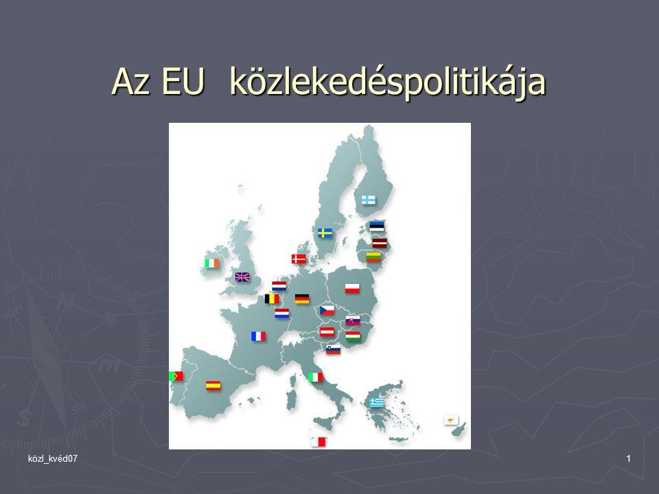 közl_kvéd071 Az EU közlekedéspolitikája Az EU közlekedéspolitikája