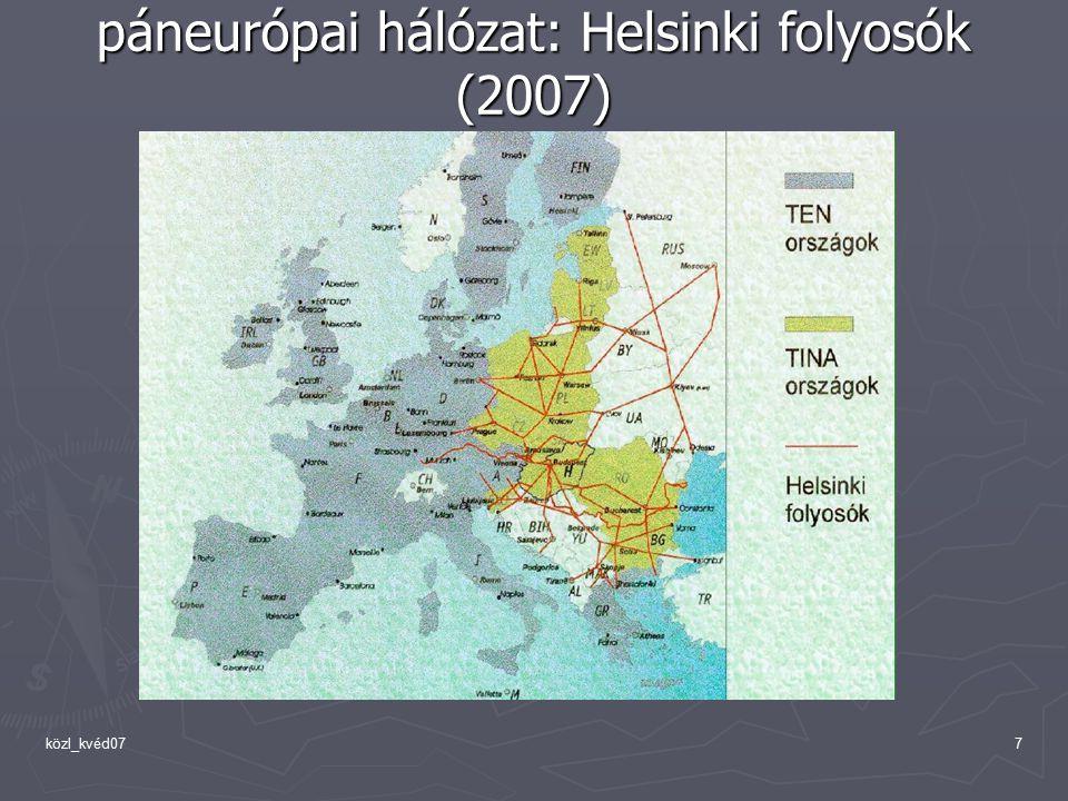közl_kvéd077 páneurópai hálózat: Helsinki folyosók (2007)