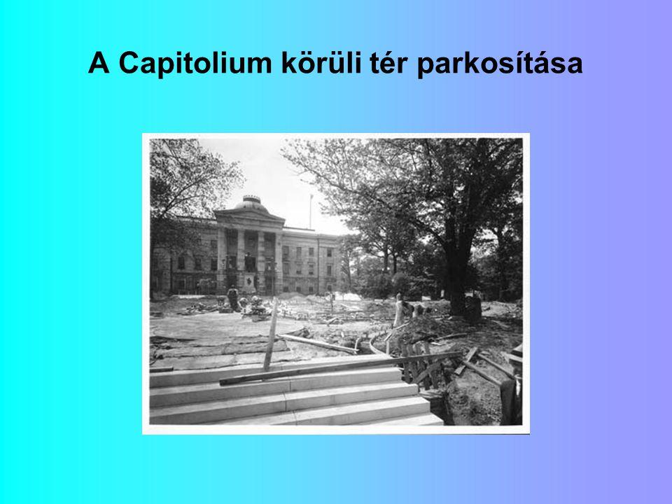 A Capitolium körüli tér parkosítása
