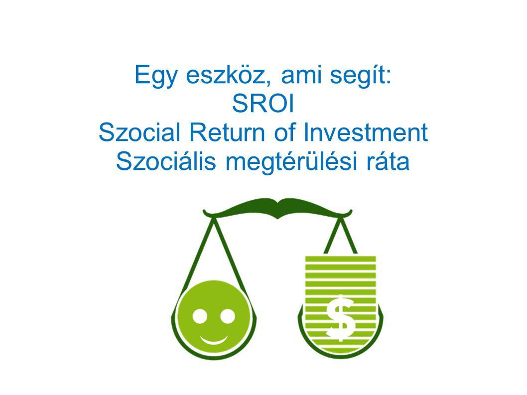 Egy eszköz, ami segít: SROI Szocial Return of Investment Szociális megtérülési ráta