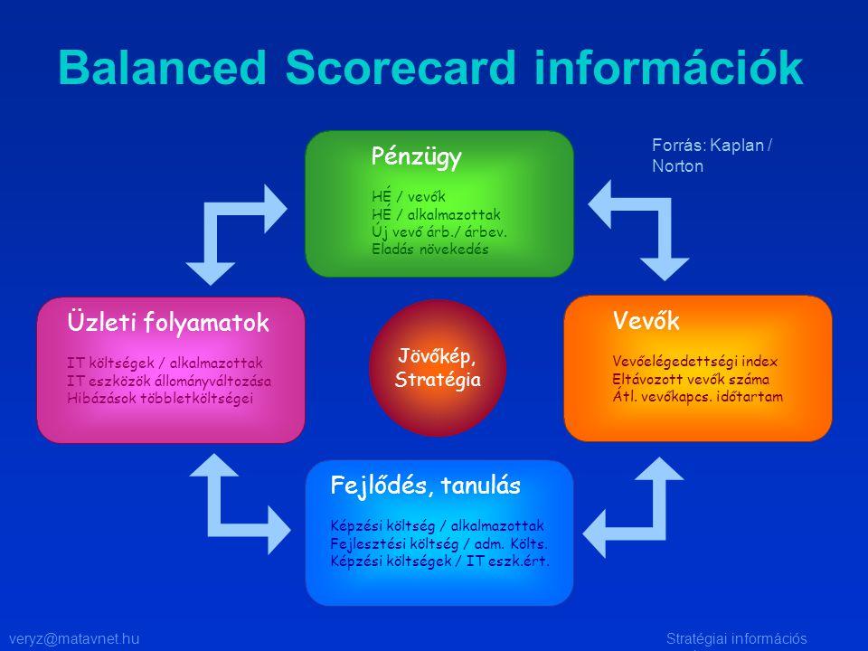 veryz@matavnet.huStratégiai információs rendszer Balanced Scorecard információk Pénzügy HÉ / vevők HÉ / alkalmazottak Új vevő árb./ árbev.