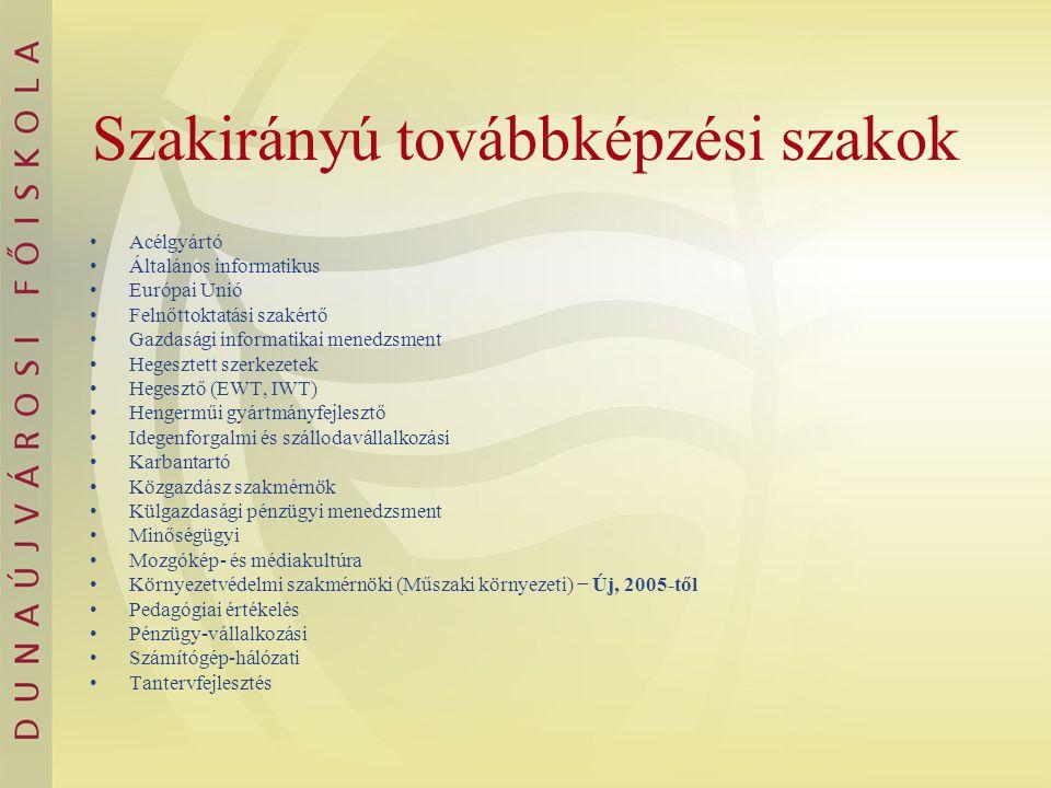 Angol nyelven induló szakjaink 2006.
