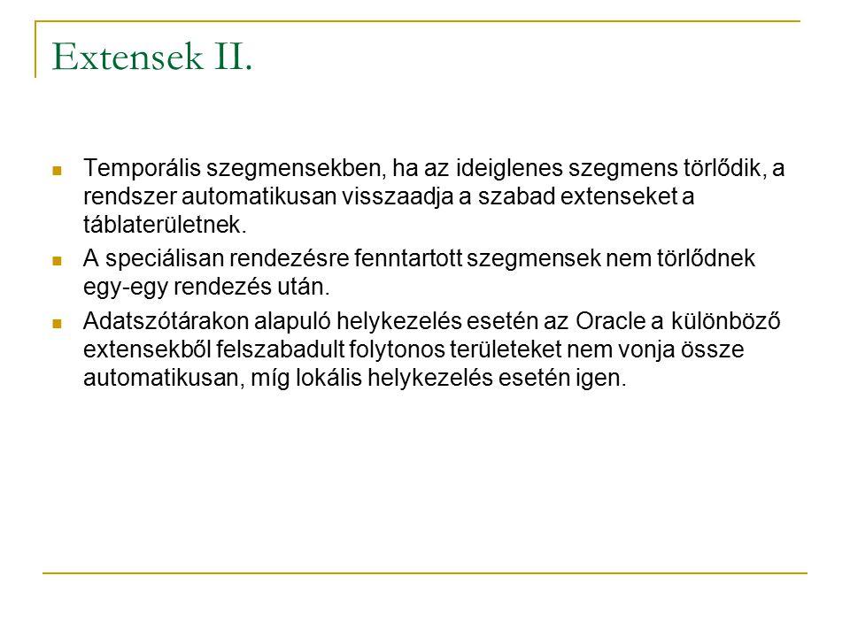 Extensek II.
