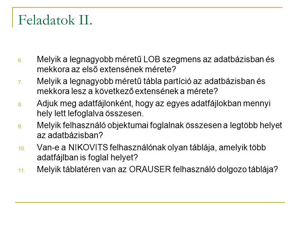 Feladatok II.6.