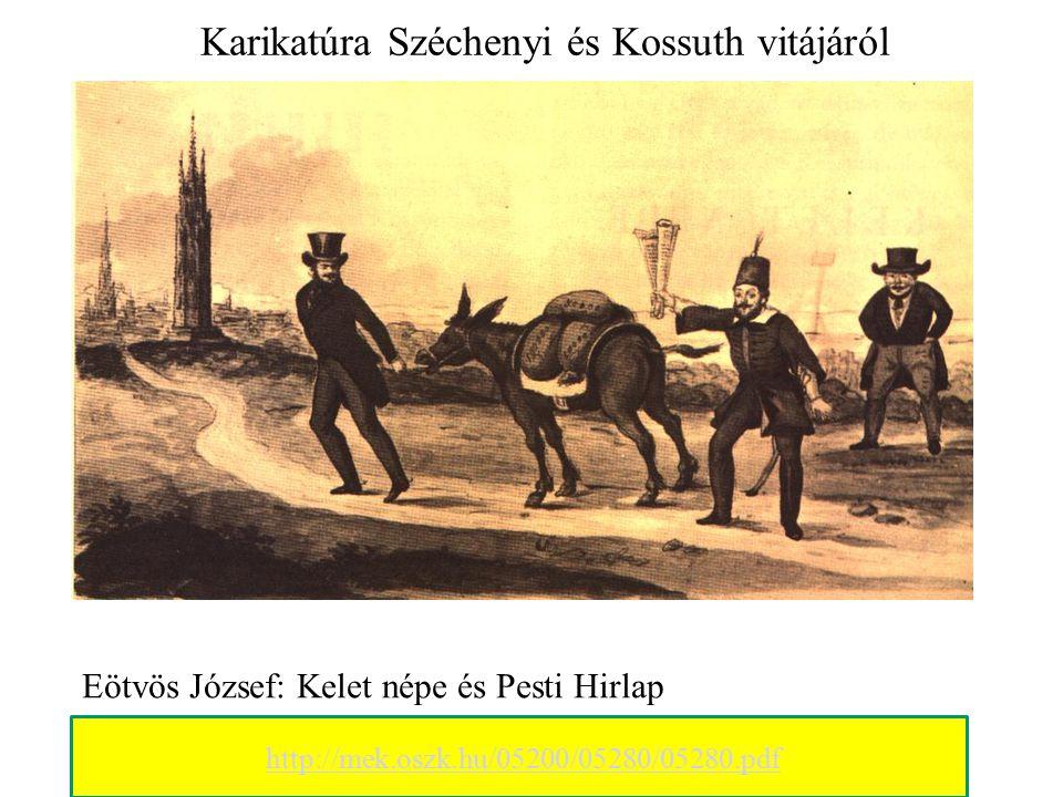"""Széchenyi és Kossuth vitája """" Kossuth a legnagyobb magyarnak nevezett."""