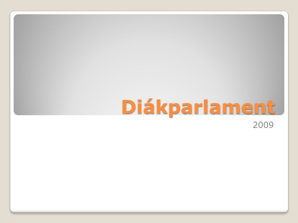 Diákparlament 2009