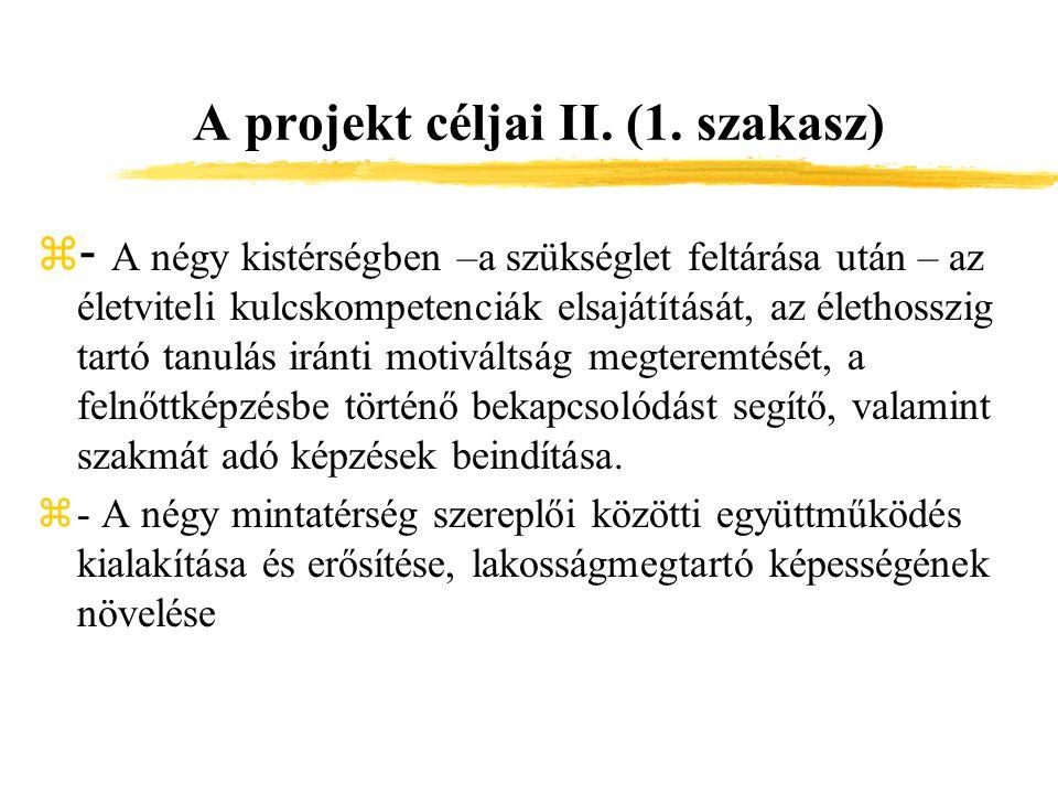 A projekt céljai II. (1.