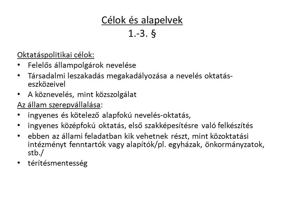 Célok és alapelvek 1.-3.