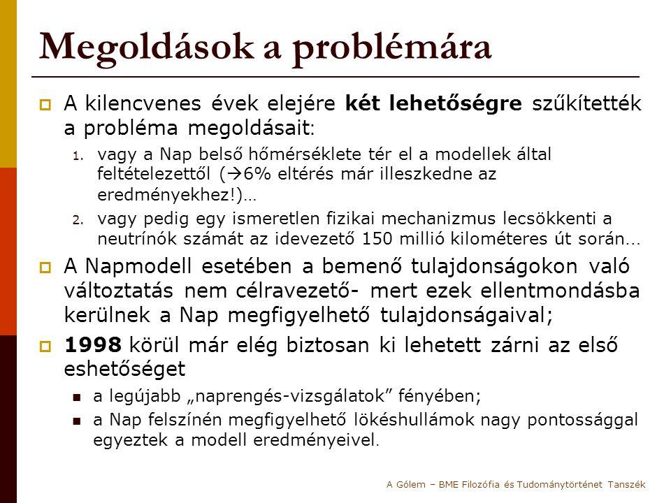 Megoldások a problémára  A kilencvenes évek elejére két lehetőségre szűkítették a probléma megoldásait : 1.