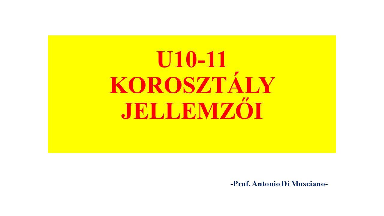 U10-11 KOROSZTÁLY JELLEMZŐI -Prof. Antonio Di Musciano-