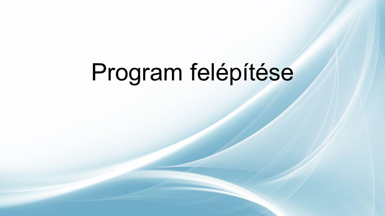 Program felépítése