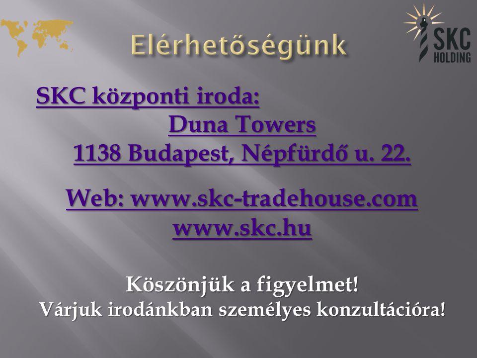 SKC központi iroda: SKC központi iroda: Duna Towers Duna Towers 1138 Budapest, Népfürdő u.