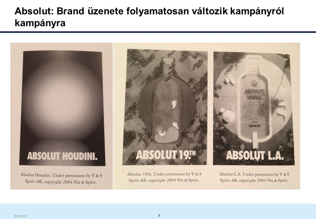 9 Blank.pot Absolut: Brand üzenete folyamatosan változik kampányról kampányra