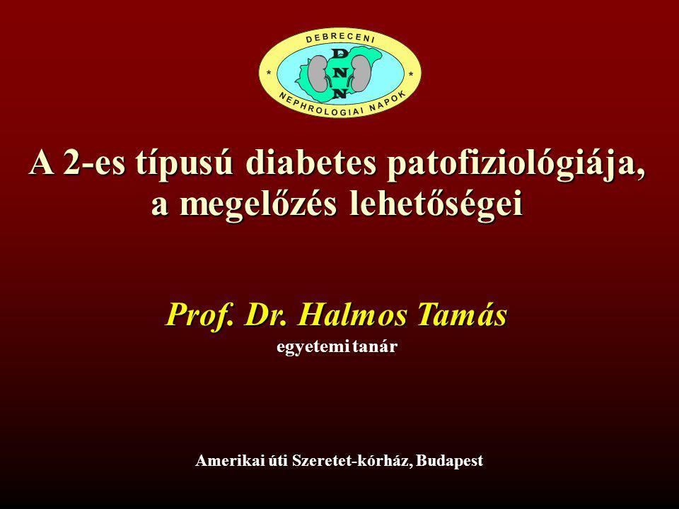A 2-es típusú diabetes patofiziológiája, a megelőzés lehetőségei Amerikai úti Szeretet-kórház, Budapest egyetemi tanár Prof.
