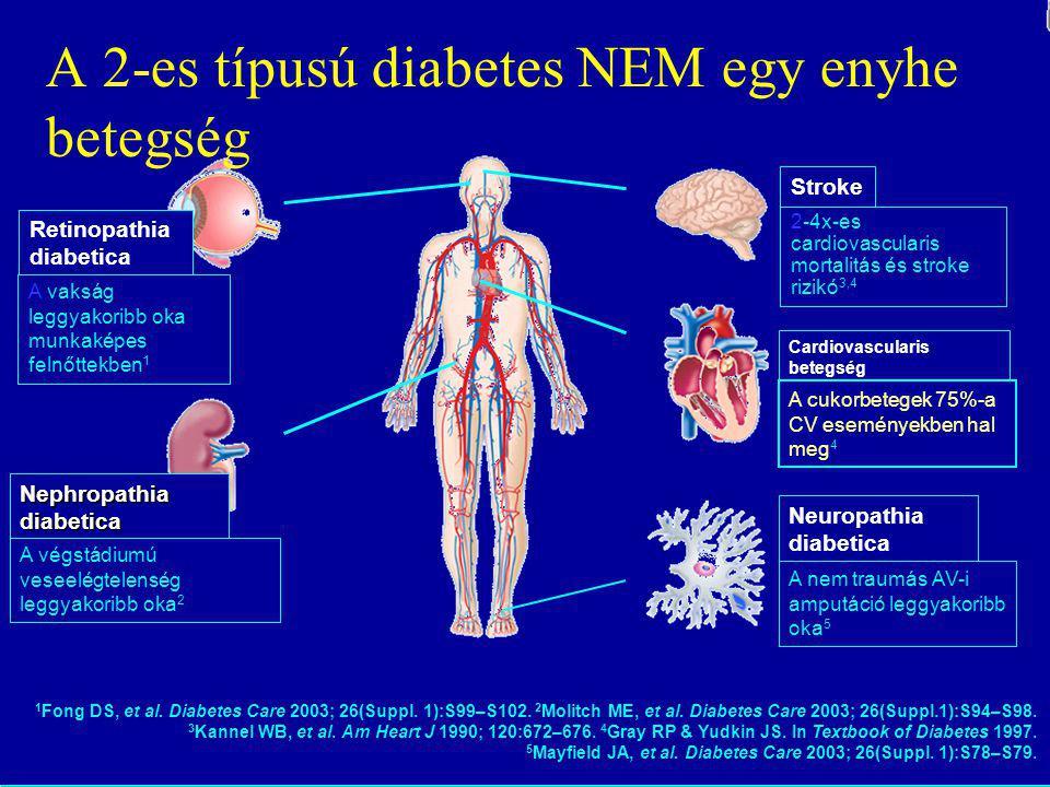 Retinopathia diabetica A vakság leggyakoribb oka munkaképes felnőttekben 1 Nephropathia diabetica A végstádiumú veseelégtelenség leggyakoribb oka 2 Ca