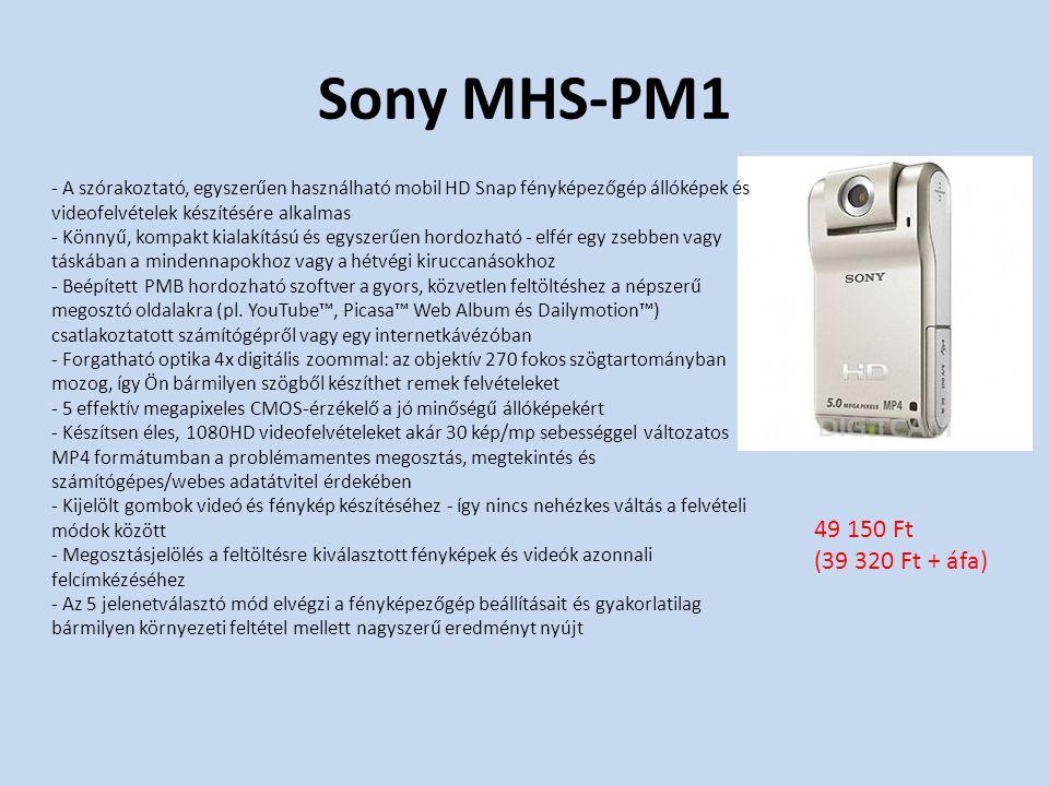 Sony MHS-PM1 - A szórakoztató, egyszerűen használható mobil HD Snap fényképezőgép állóképek és videofelvételek készítésére alkalmas - Könnyű, kompakt kialakítású és egyszerűen hordozható - elfér egy zsebben vagy táskában a mindennapokhoz vagy a hétvégi kiruccanásokhoz - Beépített PMB hordozható szoftver a gyors, közvetlen feltöltéshez a népszerű megosztó oldalakra (pl.