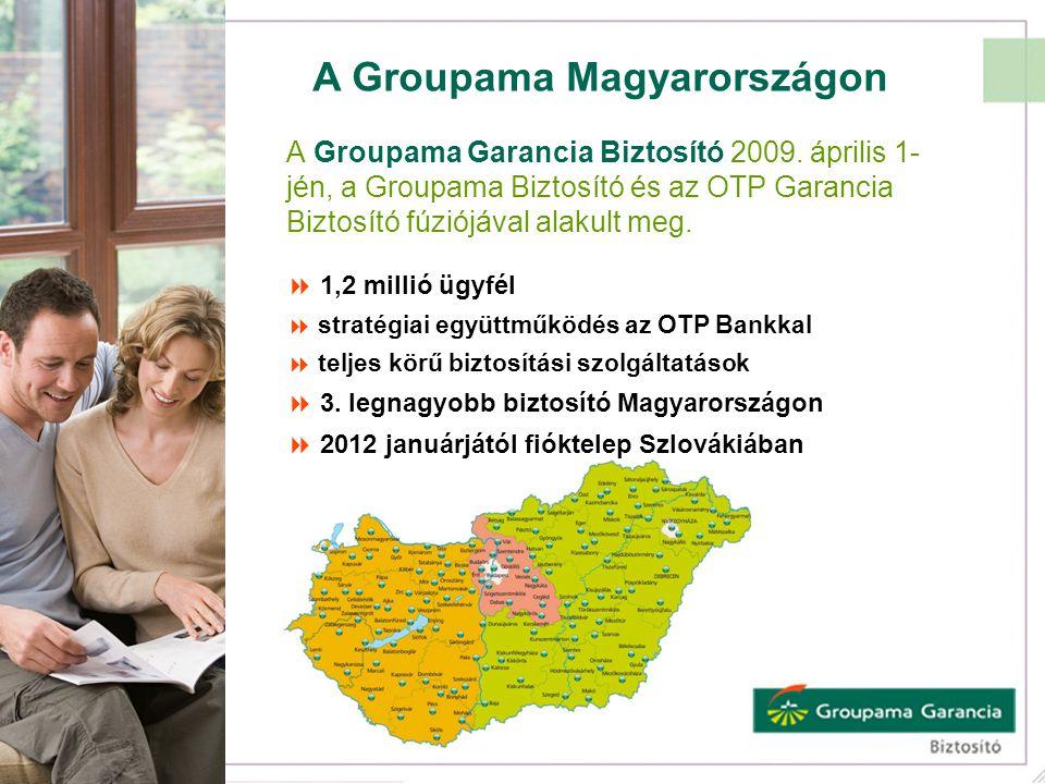 A Groupama Magyarországon A Groupama Garancia Biztosító 2009. április 1- jén, a Groupama Biztosító és az OTP Garancia Biztosító fúziójával alakult meg