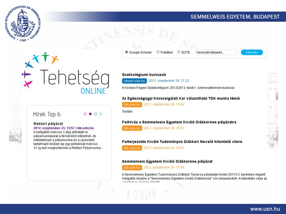 Fejlesztések Megújuló honlap.