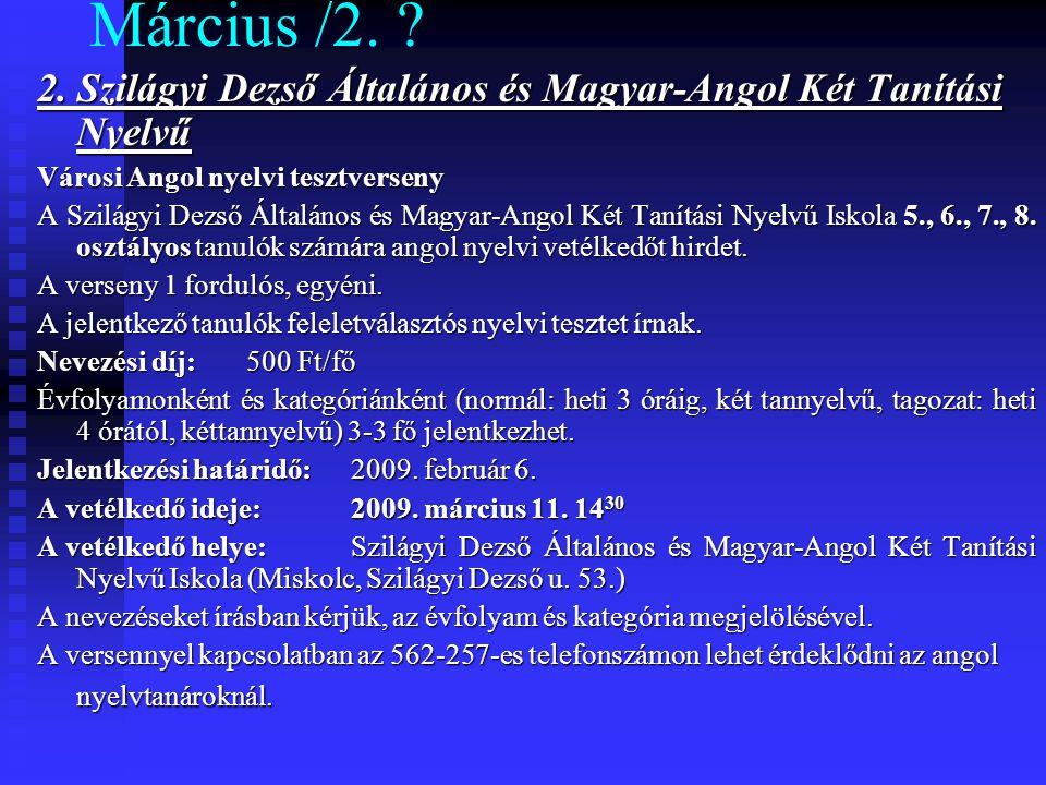 Március /2. 2.