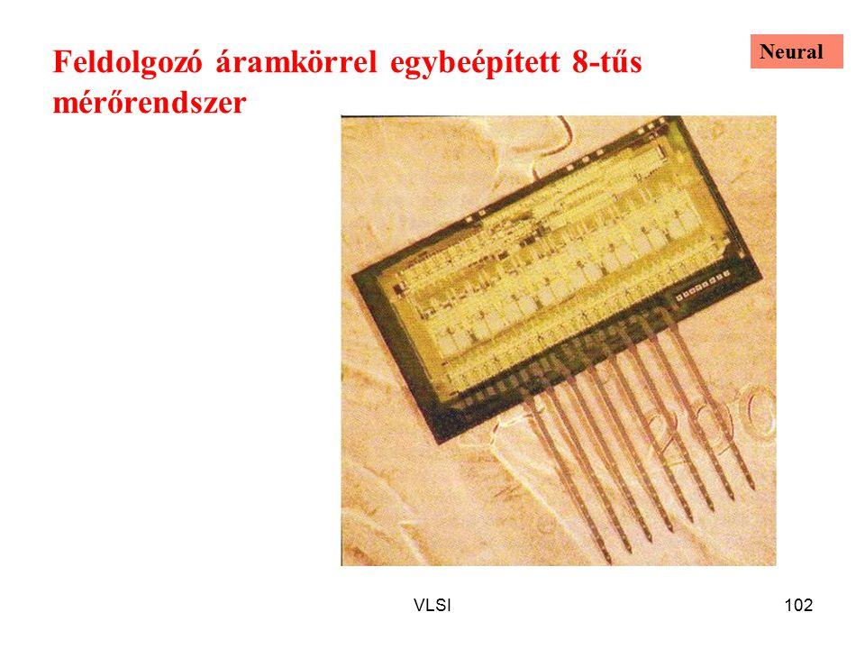 VLSI102 Feldolgozó áramkörrel egybeépített 8-tűs mérőrendszer Neural