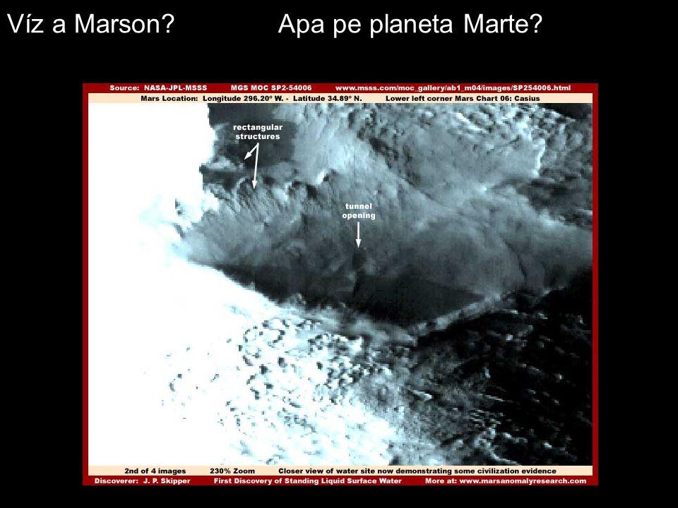 Víz a Marson? Apa pe planeta Marte?