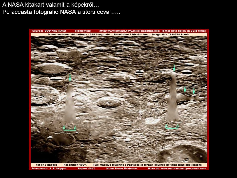 A NASA kitakart valamit a képekről… Pe aceasta fotografie NASA a sters ceva …..