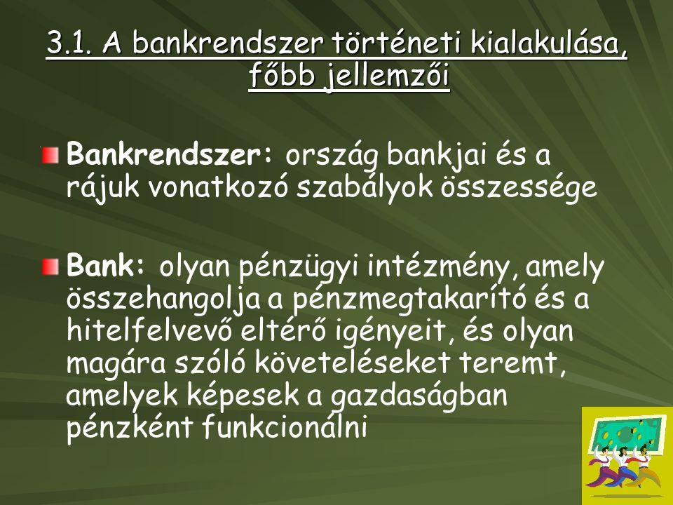 Bankrendszer lehet: –egyszintű –Kétszintű (Mo: 1987.