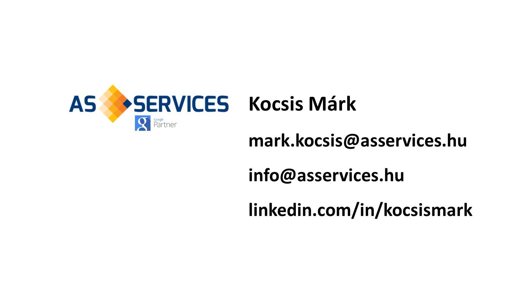 Kocsis Márk mark.kocsis@asservices.hu info@asservices.hu linkedin.com/in/kocsismark