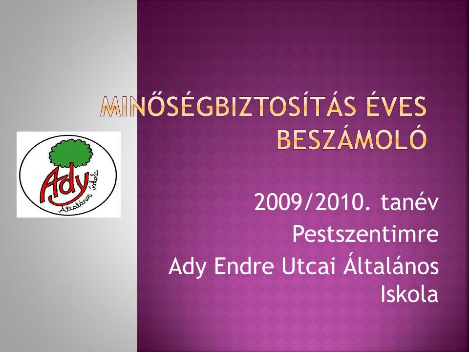 2009/2010. tanév Pestszentimre Ady Endre Utcai Általános Iskola