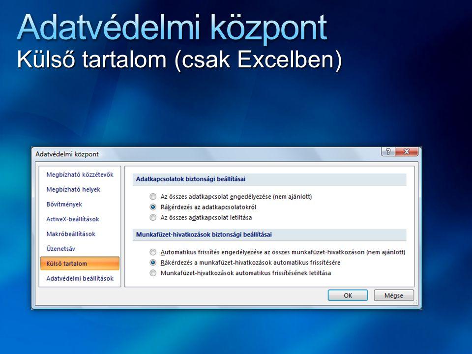 Külső tartalom (csak Excelben)