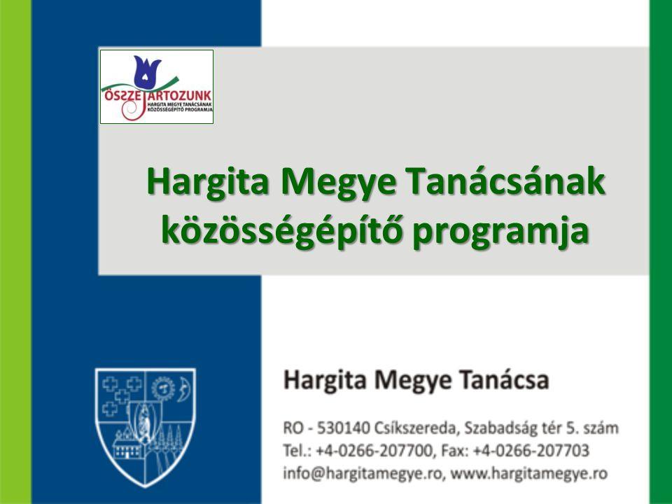 Hargita Megye Tanácsának közösségépítő programja