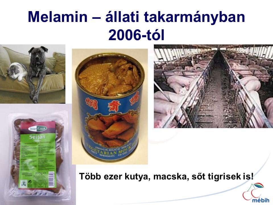Melamin – állati takarmányban 2006-tól Több ezer kutya, macska, sőt tigrisek is!