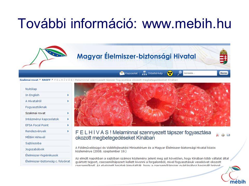További információ: www.mebih.hu