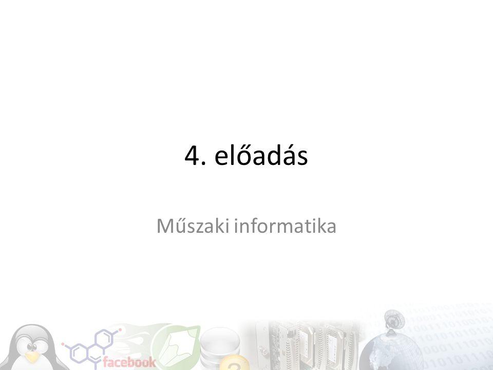 4. előadás Műszaki informatika
