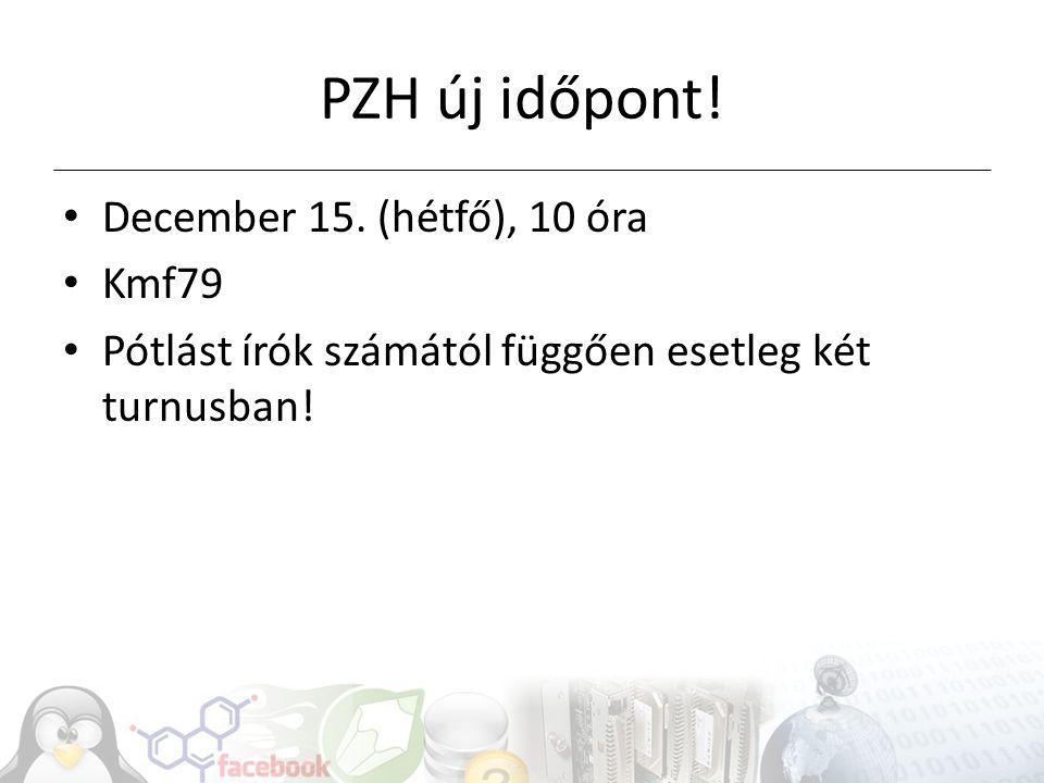 PZH új időpont. December 15.