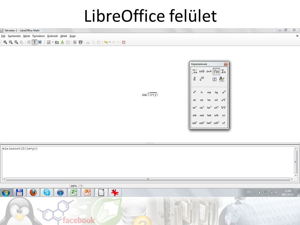 LibreOffice felület
