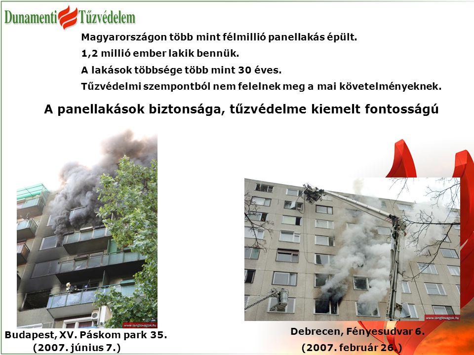 Magyarországon több mint félmillió panellakás épült. 1,2 millió ember lakik bennük. A lakások többsége több mint 30 éves. Tűzvédelmi szempontból nem f