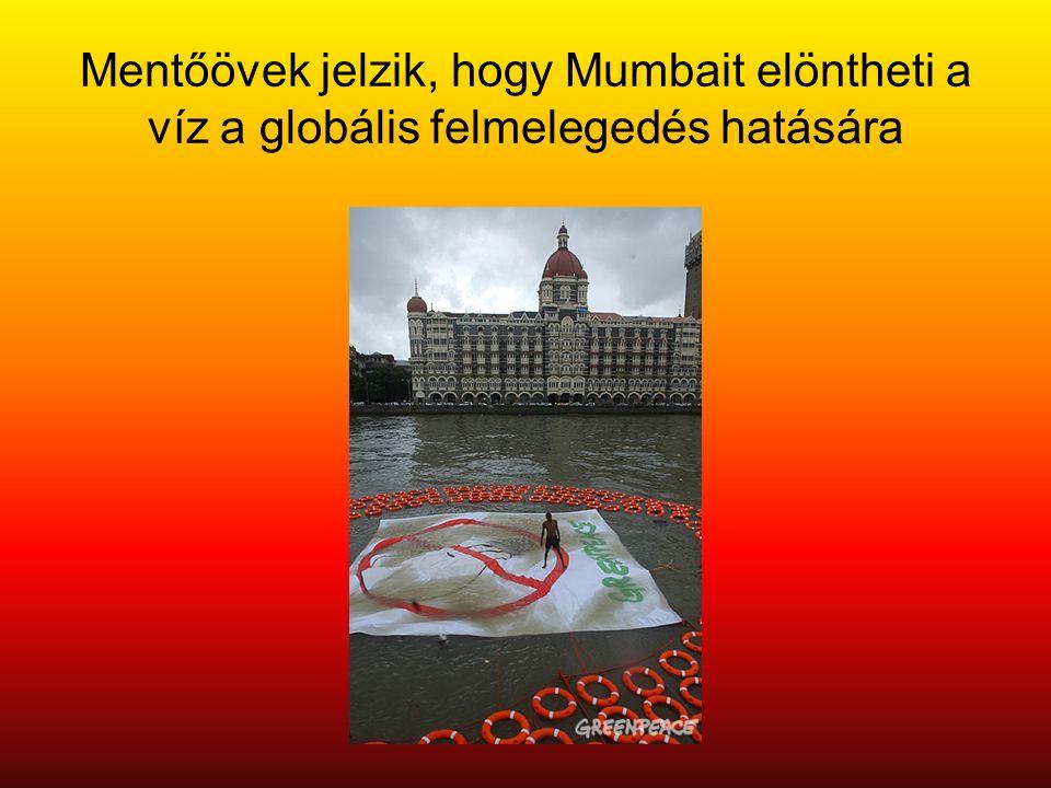 Mentőövek jelzik, hogy Mumbait elöntheti a víz a globális felmelegedés hatására